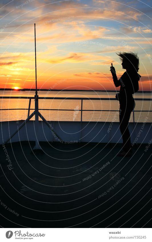 Longing Sky Beautiful Ocean Clouds Emotions Hair Telephone Longing Information Mobility Scandinavia Cruise Telecommunications