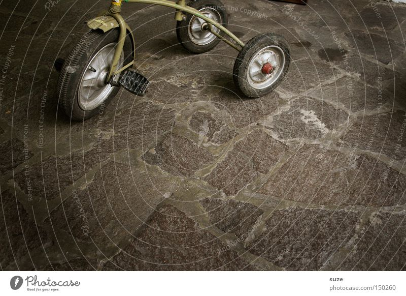 tricycle Playing Former Discovery Past Courtyard Driving Tread Wheel Second-hand Sold Flea market Traffic infrastructure Transience children's tricycle