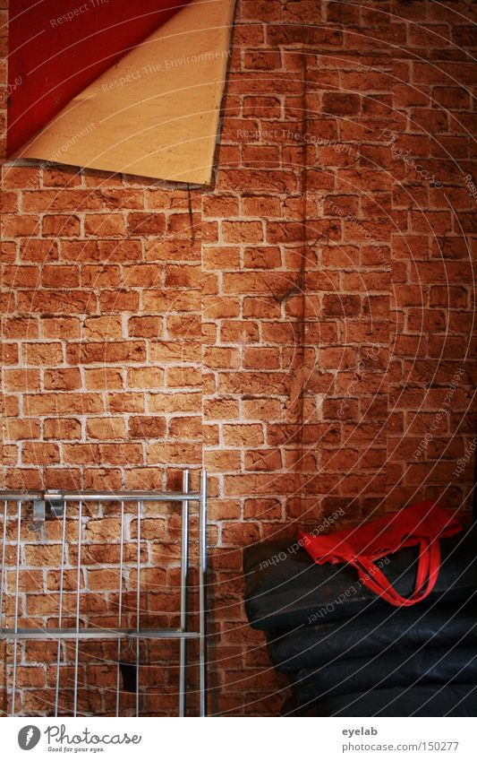 All Dummy Detail Pattern Relaxation Wallpaper Stone Brick Old Retro Red Decline Transience Connect Small room Mock-up Derelict brick pattern paste