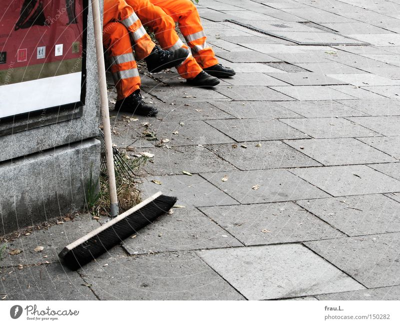 Man Relaxation Work and employment Break Working man Cleaning Sweep Blockbuster Public service