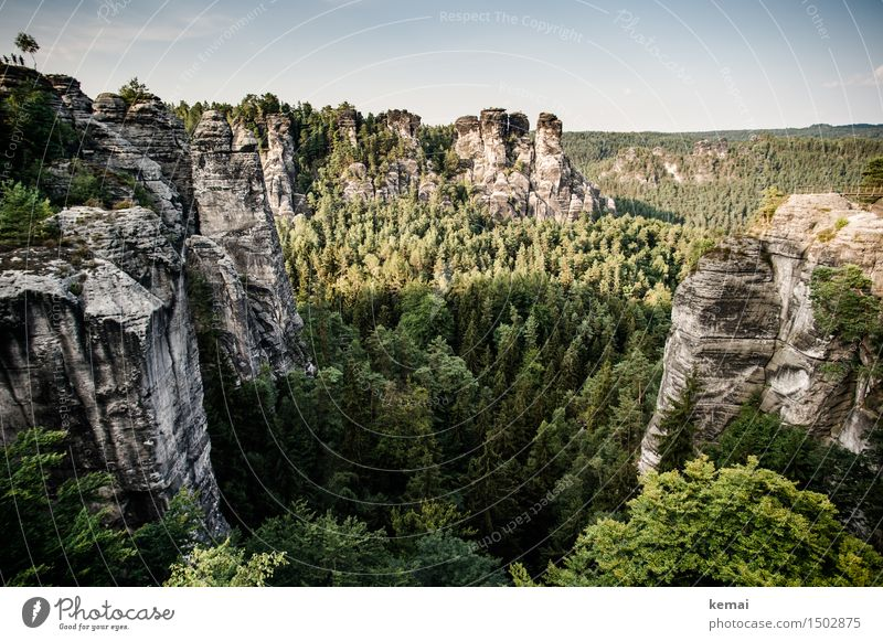 Sky Plant Beautiful Summer Tree Landscape Clouds Far-off places Forest Mountain Environment Exceptional Freedom Germany Rock Tourism