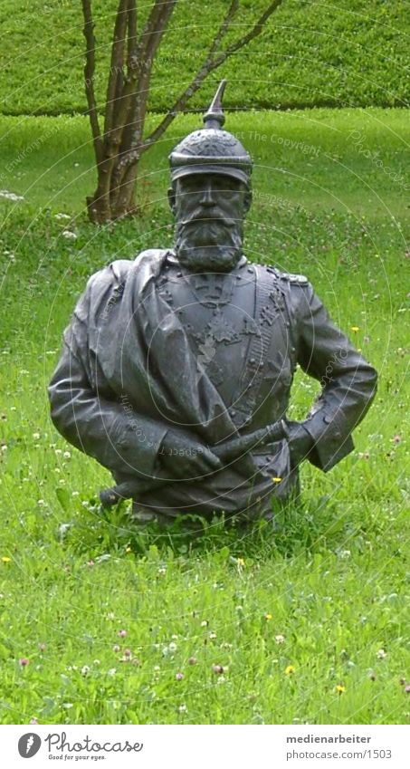 emperor green King Hesse Whimsical Bust Meadow Roman park
