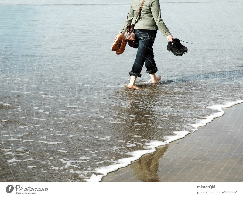 Vacation & Travel Ocean Beach Colour Relaxation Healthy Waves To go for a walk Wellness Trust Baltic Sea To enjoy Barefoot Cure Switch off