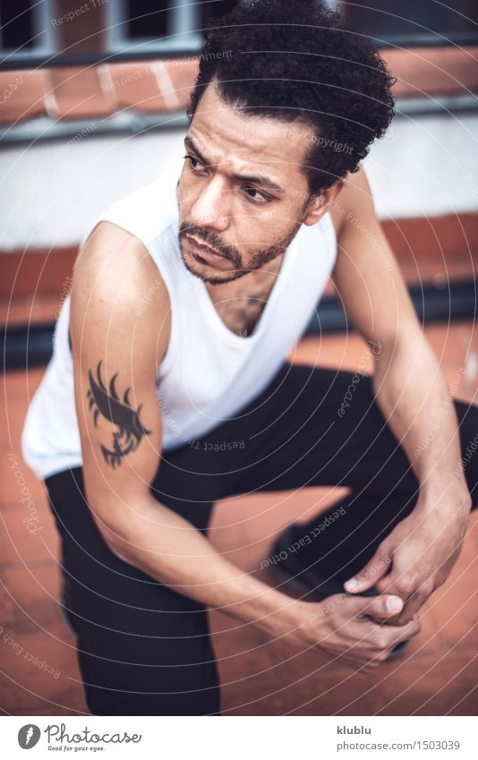 Confident attractive mulatto man in urban environment Lifestyle Style Man Adults Fashion Cool (slang) Eroticism Good Hip & trendy Modern White Self-confident