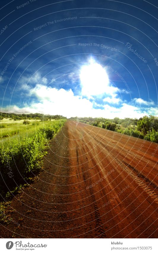 Road in Senegal, Africa Sky Nature Vacation & Travel Plant Blue Tree Landscape Clouds Environment Street Natural Horizon Park Tourism Wild Car