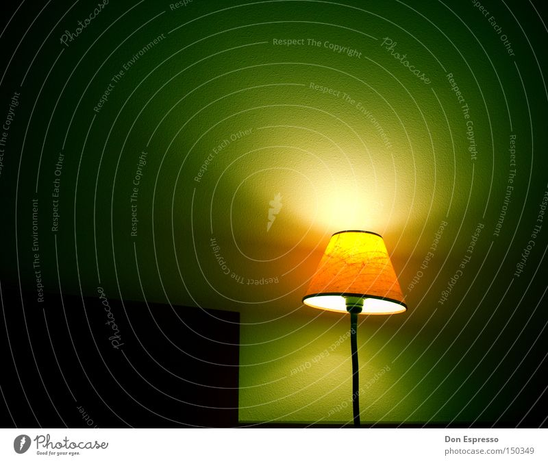 Green Loneliness Lamp Dark Dream Lighting Sleep Living or residing Hotel Fatigue Lantern Light Late Bedroom Wake up Alert