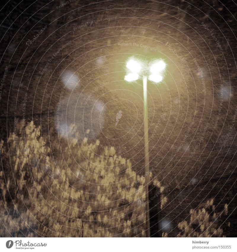 Winter Snow Lamp Storm Street lighting Gale Floodlight Shift work Night watch