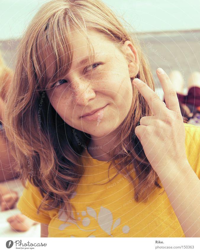 Woman Beautiful Ocean Summer Joy Vacation & Travel Warmth 2 Blonde Fingers Happiness Esthetic