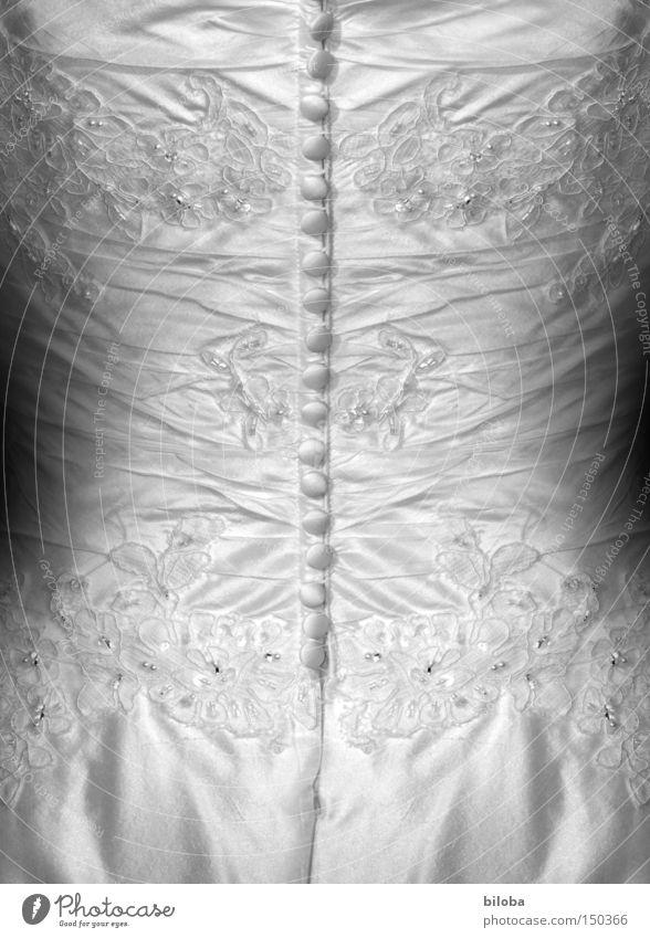 Woman White Beautiful Back Closed Romance Dress Buttons Bride Wedding dress