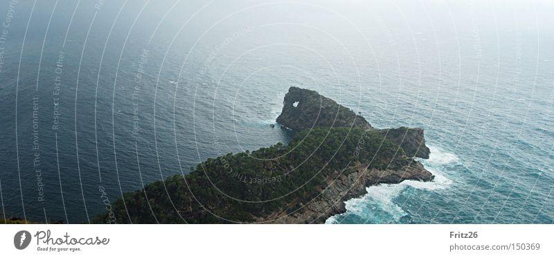 sa Foradada Promontory Water Green Mountain Ocean Hollow Art Majorca Vantage point Tourist Attraction