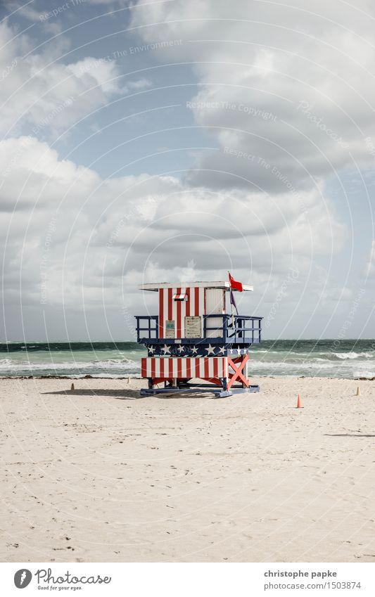 Sky Vacation & Travel City Summer Ocean Clouds Far-off places Beach Freedom Tourism Waves Beautiful weather USA Hut Landmark Tourist Attraction