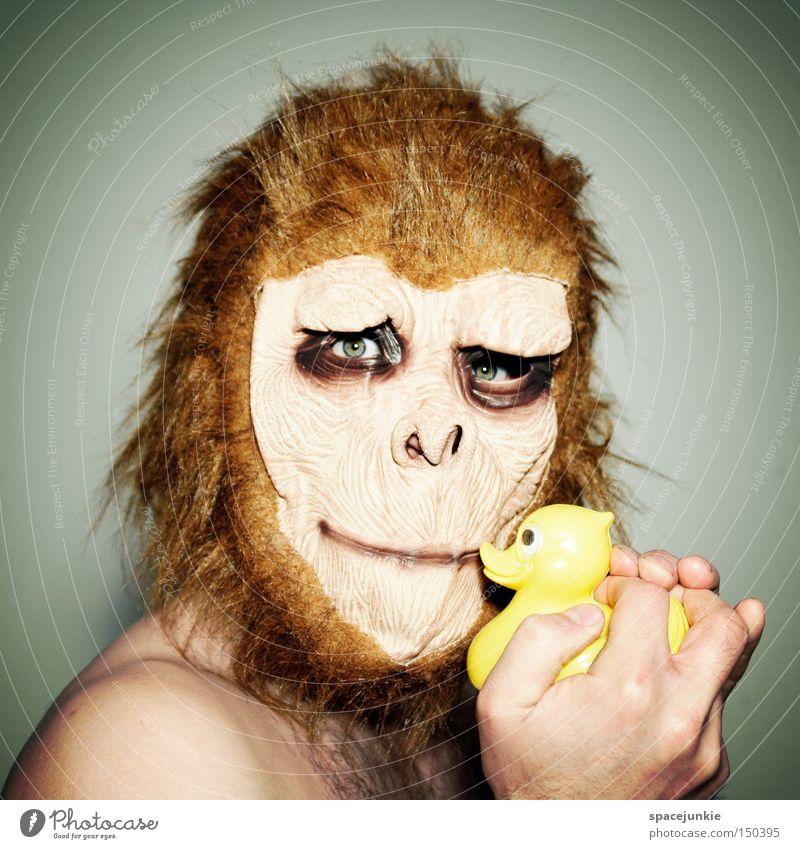 Joy Animal Bathroom Mask Carnival Mirror Duck Monkeys Mirror image Horror Squeak duck Room Without makeup