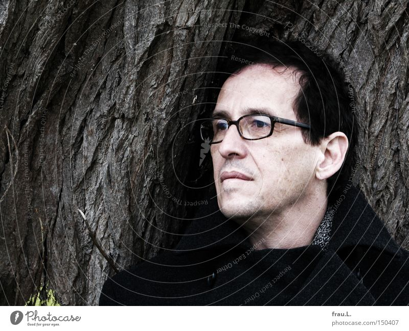 Man Portrait photograph Tree Face Eyeglasses 50 plus Wismar