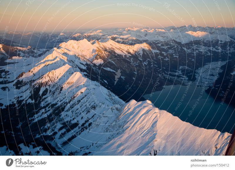 Brienzer red horn Flying Aerial photograph Alps Mountain Aviation allgäu horn Meiringen tannhorn