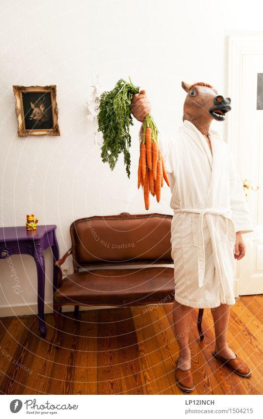 LP. HORSEMAN. X Living or residing Flat (apartment) Interior design Decoration Carnival Hallowe'en Masculine 1 Human being Animal Horse Stand Creepy Retro Town