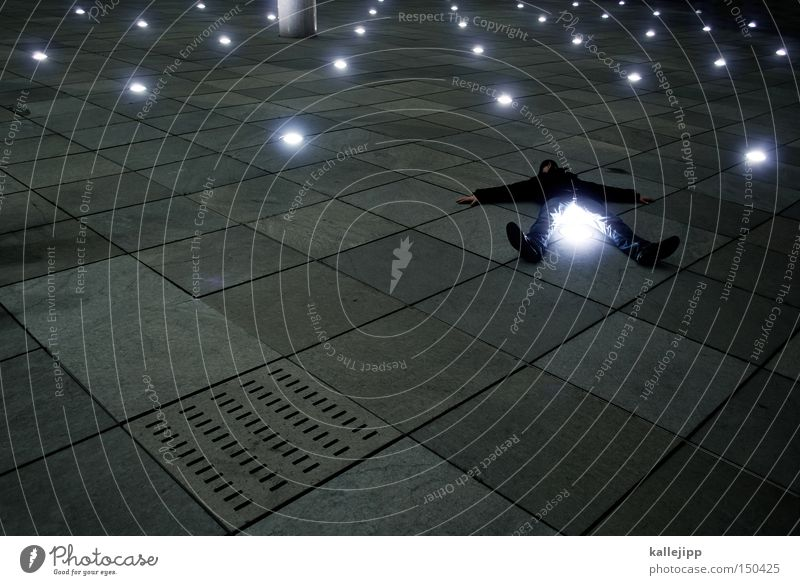 Human being Man Lamp Stone Lighting Stars Star (Symbol) Places Floor covering Lie Point Level Astronomy Event lighting