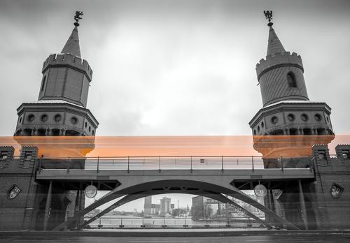Vacation & Travel White Black Yellow Architecture Gray Metal Tourism Speed Concrete Bridge Logistics Landmark Rust Tourist Attraction Steel