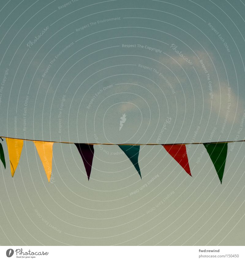 Sky Blue Yellow Colour Autumn Party Warmth Feasts & Celebrations Flag Afternoon Street party