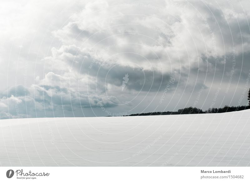 Sky Nature Blue White Landscape Loneliness Clouds Winter Black Cold Environment Natural Snow Gray Bright Horizon