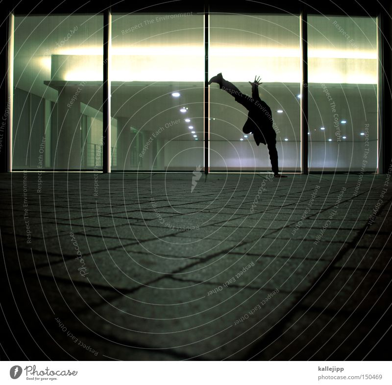 Human being Man Hand Window Architecture Movement Legs Legs Dance Dance event Fitness Funsport Breakdance Handstand Dancer Go crazy