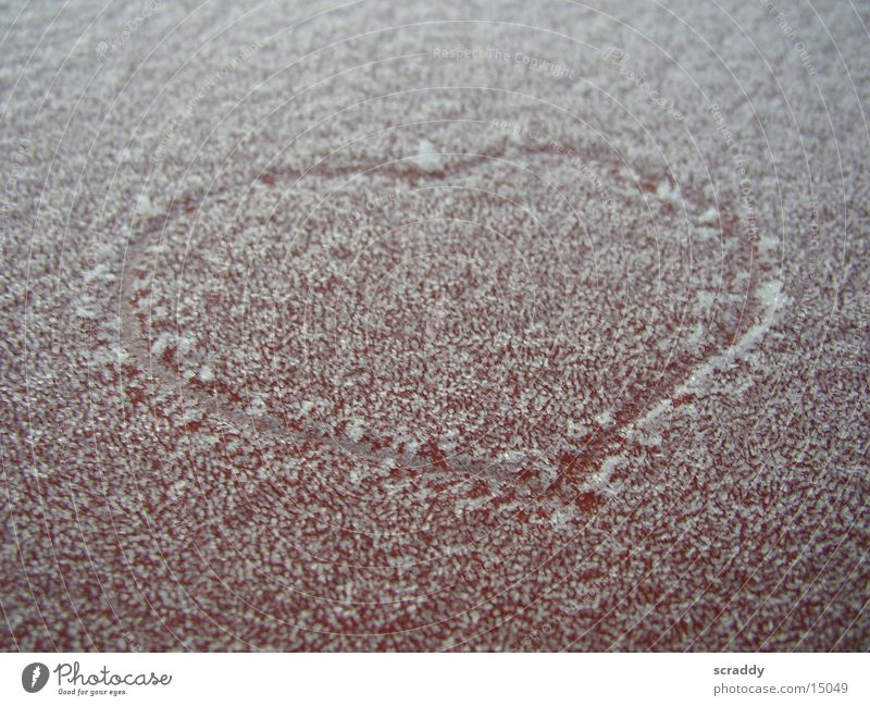 frosty heart Red Winter Cold Symbols and metaphors Obscure Heart Frost Orange Love Structures and shapes