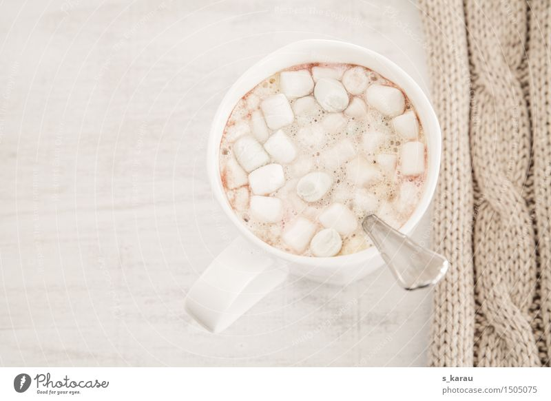 Marshmallow Cocoa Food Candy To have a coffee Beverage Hot drink Milk Hot Chocolate Cup Bright Cuddly Delicious Sweet Warmth Vice Relaxation To enjoy Winter