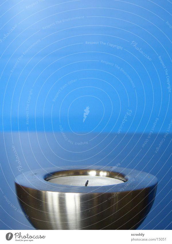 tea light Tea warmer candle High-grade steel Wax Living or residing Blue Candlewick
