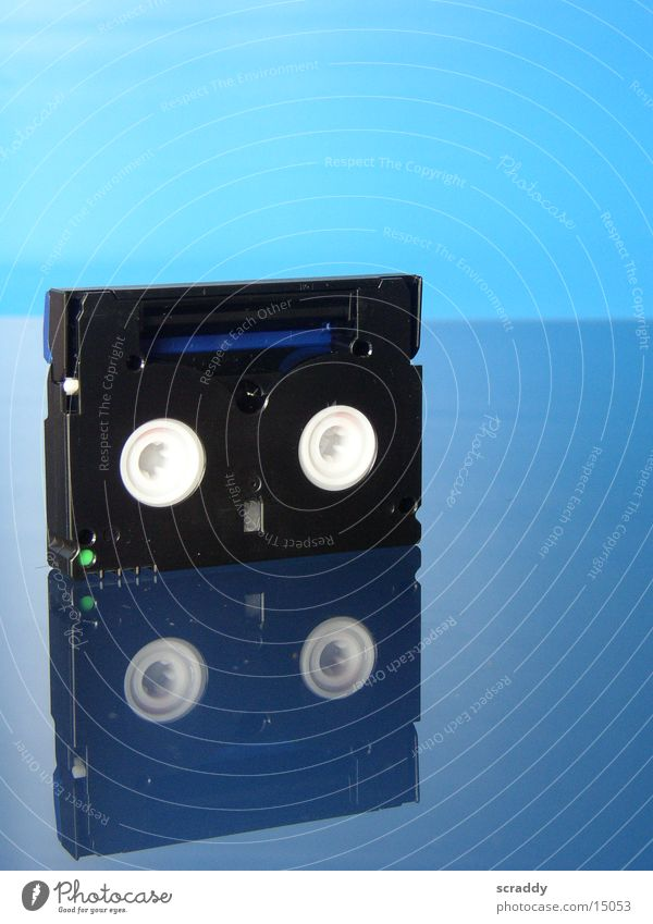 Mini DV Video Video cassette Reflection Entertainment Blue Tape cassette