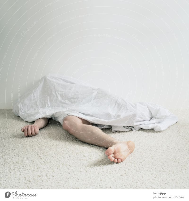Human being Man White Naked Death Dream Legs Bright Arm Poverty Sleep Lie Creepy Corpse Parts of body