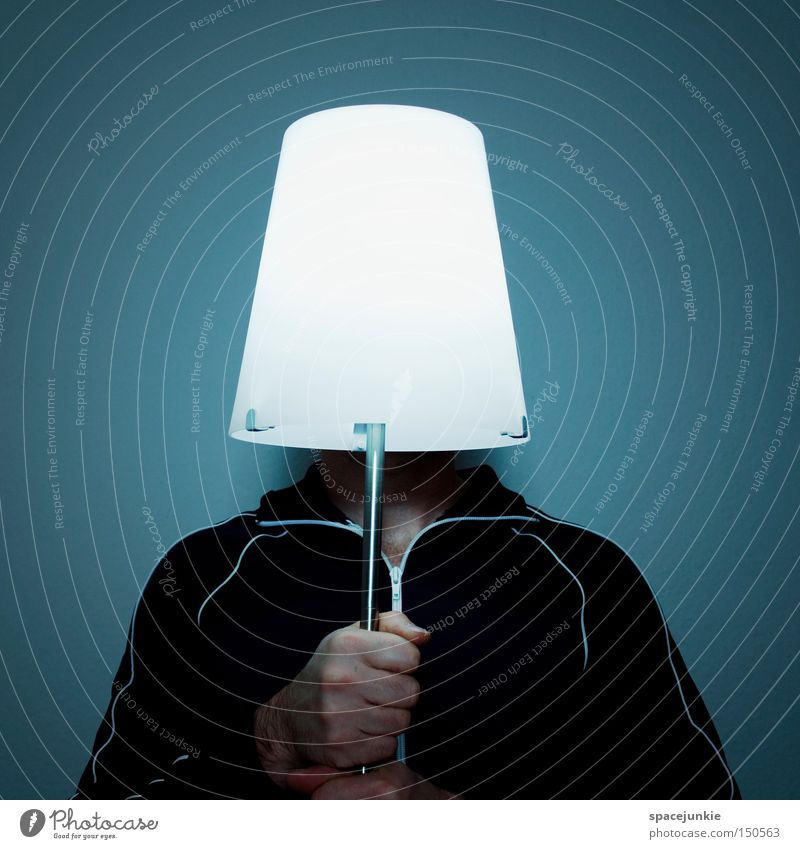 light Man Lamp Light Lighting Hand To hold on Electric bulb Electricity Electricity generating station Hiding place Joy