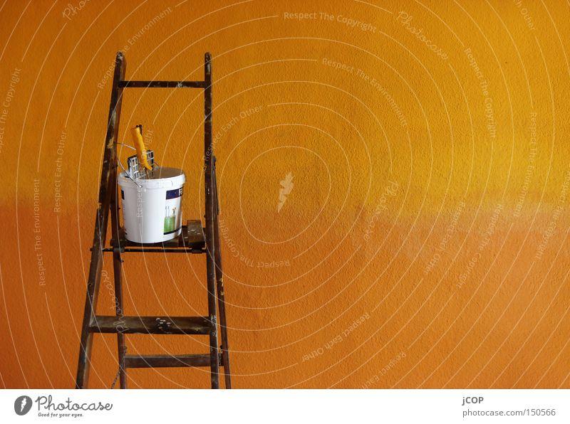 Colour Wall (building) Warmth Wet Arrangement Painting (action, work) Wallpaper Services Damp Ladder Patch Paintbrush Painter Progress