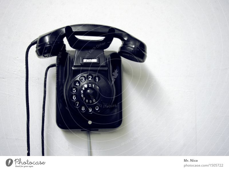 Old Black Work and employment Design Living or residing Decoration Communicate Telecommunications Retro Digits and numbers Telephone Connection Analog Nostalgia