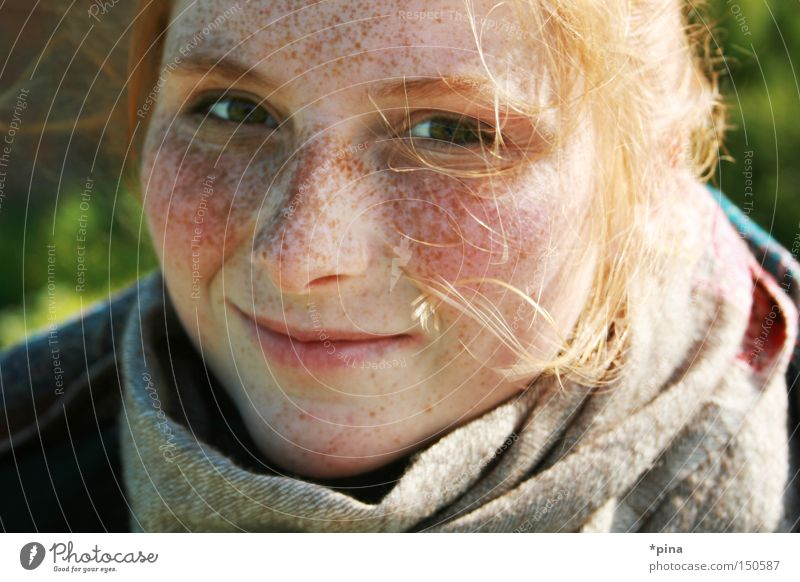 Woman Beautiful Portrait photograph Happy Laughter Contentment Happiness Natural Grinning Freckles