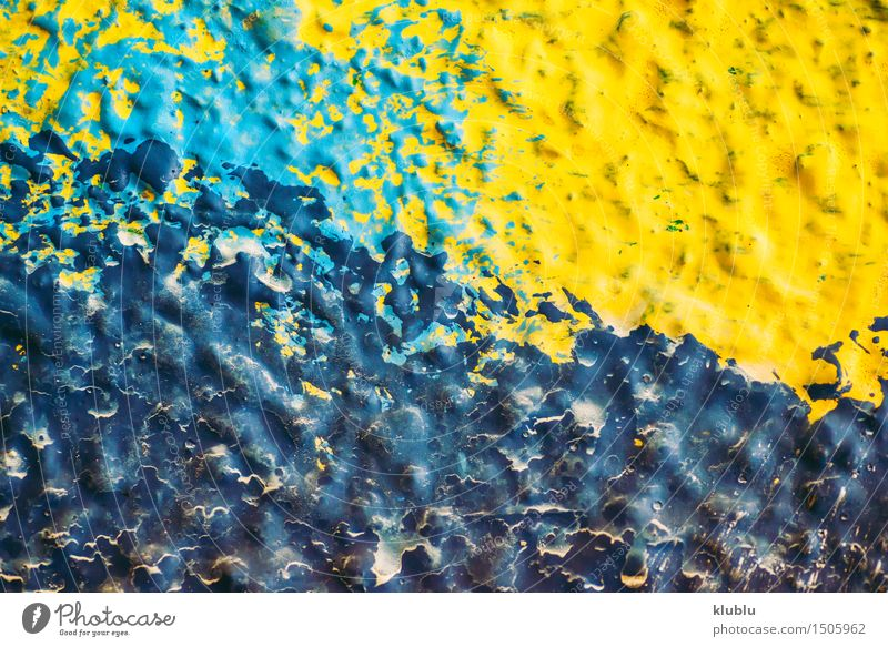 Colorful drops of wall painting Design Hand Concrete Graffiti Drop Movement Dirty Wet Retro Blue Turquoise Creativity brush Stroke oil colorful Splash