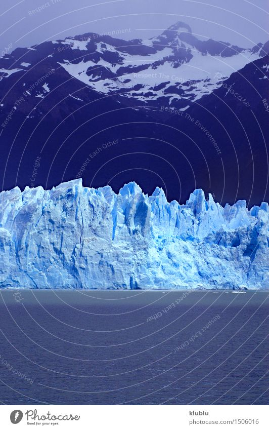 Perito Moreno Glacier in Patagonia (Argentina) Vacation & Travel Ocean Winter Snow Mountain Nature Landscape Sky Clouds Park Rock River Freeze Blue glacial