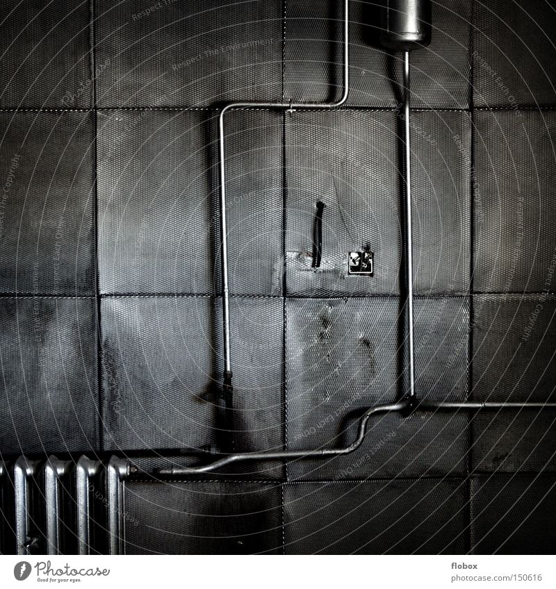 Wall Building Gray Metal A Royalty Free Stock Photo
