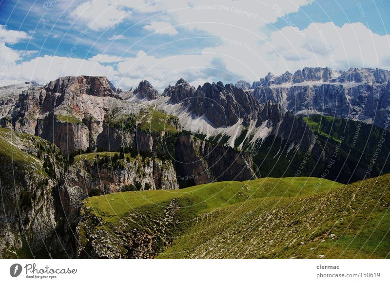 dolomites cir pitzen and sella Mountain Hiking Alpine pasture Alps Italian Alps Climbing Italy Vacation & Travel South Tyrol