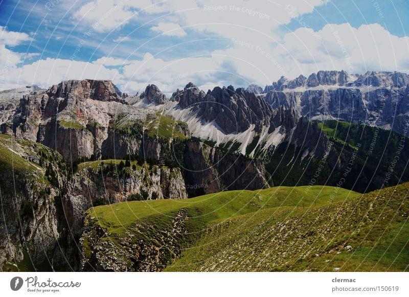 Vacation & Travel Mountain Hiking Italy Climbing Alps Italian Alps Alpine pasture South Tyrol
