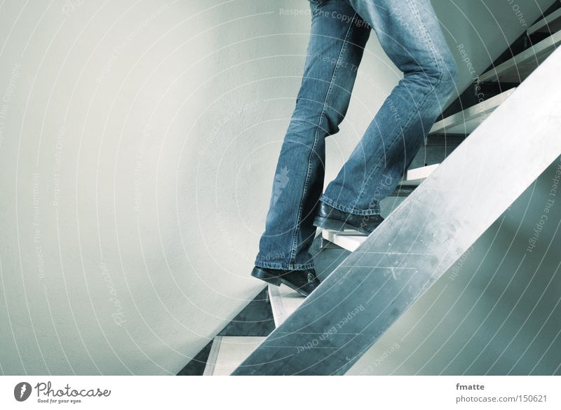 Walking Success Stairs Level Upward Ascending Direction