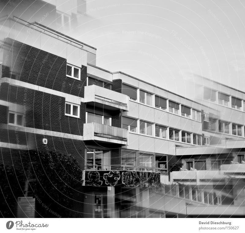 House (Residential Structure) Window School Wall (barrier) Building Door School building Manmade structures Student Entrance Double exposure Prism Smear
