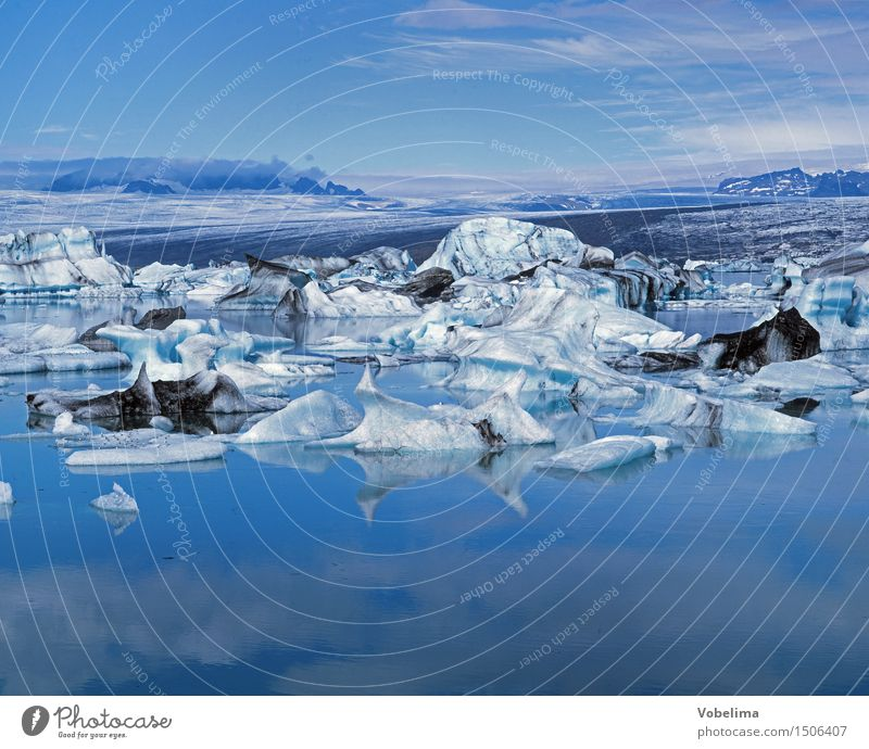 Jökulsarlon, Iceland Nature Landscape Elements Water Sky Climate change Weather Lake Lagoon Blue White Vacation & Travel Snow Iceberg glacial lake Jökulsárlón