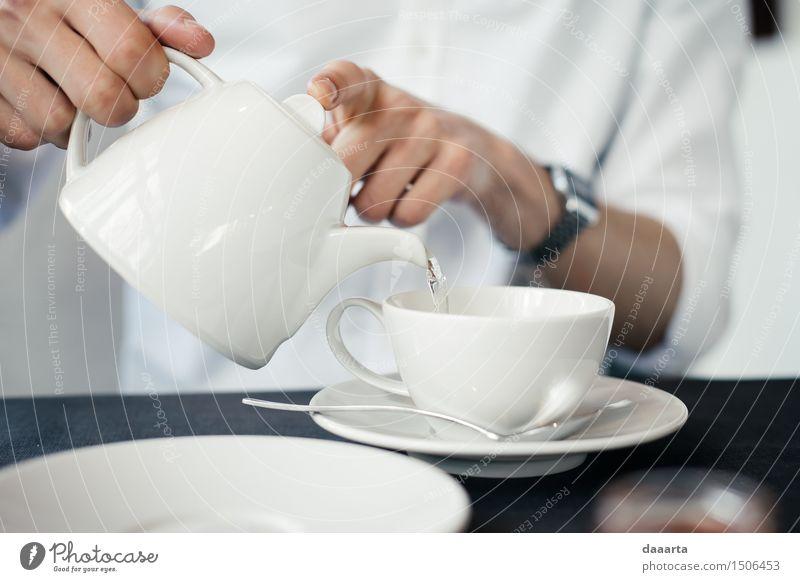 water for tea Beverage Hot drink Tea Water Mug Spoon Lifestyle Elegant Style Design Joy Harmonious Leisure and hobbies Adventure Freedom Living or residing
