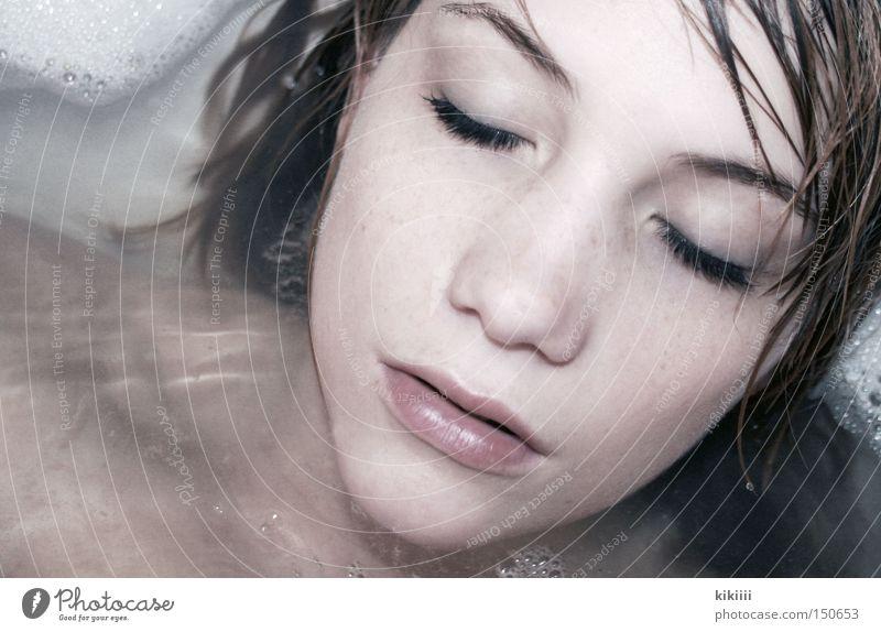 bathing mermaid Swimming & Bathing Bathroom Foam Eyelash Skin Beauty Photography Dream Self portrait Relaxation Healthy Water Eyes Wash