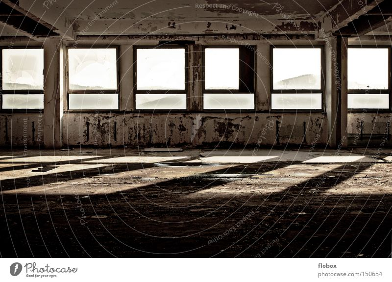Old Loneliness Window Freedom Dirty Concrete Industry Factory Derelict Shabby Captured Penitentiary Factory hall Harmful Convict