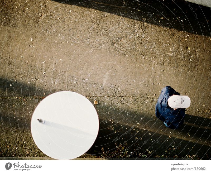 down on the ground Table Shadow Asphalt Proletarian Social law Man Human being Bird's-eye view Line Illustration Traffic infrastructure Beautiful drunk