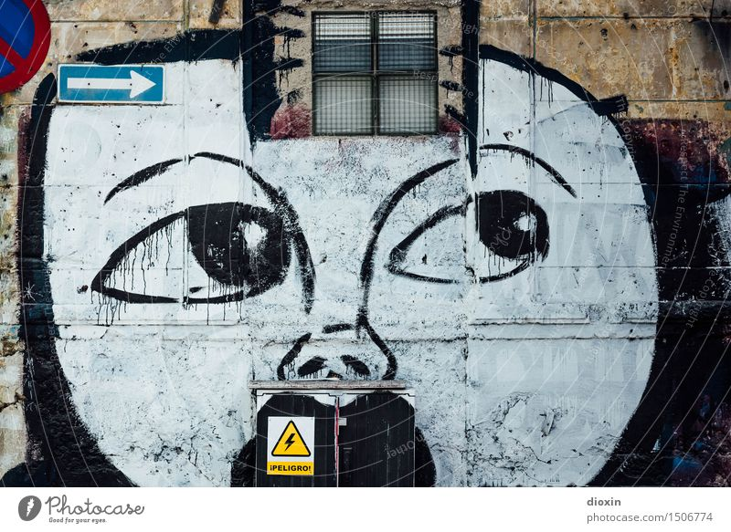 ¡PELIGRO! Energy industry Distributor Face Art Work of art Painting and drawing (object) Street art Havana Cuba Central America South America Caribbean