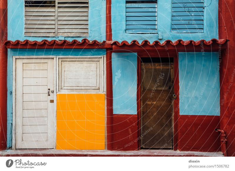 Vacation & Travel City House (Residential Structure) Window Facade Tourism Door Authentic Adventure Capital city Downtown City trip Cuba Port City South America