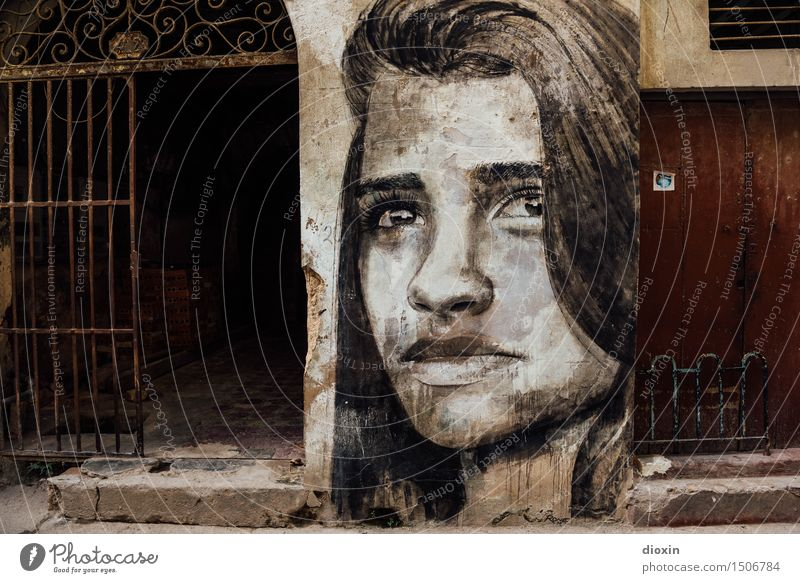 Human being Woman Vacation & Travel Youth (Young adults) City Old Beautiful Young woman 18 - 30 years Face Adults Wall (building) Feminine Wall (barrier) Art