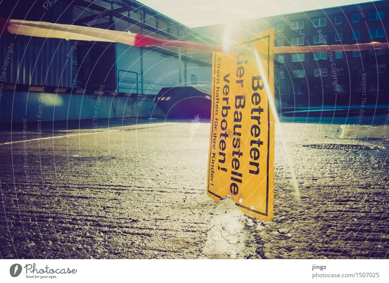 City Yellow Illuminate Gold Wait Dangerous Places Signage Threat Protection Safety Near Watchfulness Build Attentive Warn