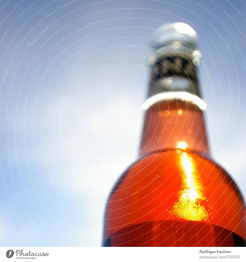 a cool red Lemonade Bottle Reflection Sky Drinking Thirst Exterior shot Organic produce sparkling bottom view